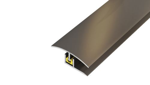 AP27 přechodová lišta, vrtaná PROFI ACARA, hliník elox stříbro, 35 mm, 2,7 m