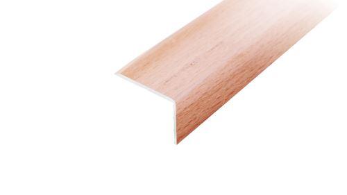 AP2 schodová lišta samolepící ACARA, hliník + dýha lakovaná dub, 10x25 mm, 2,7 m