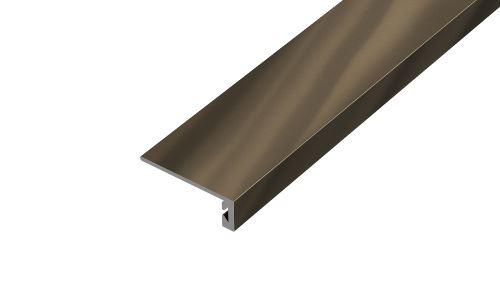 AP26/1 ukončovací lišta samolepící ACARA, hliník elox stříbro, 8 mm, 2,7 m