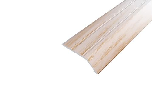 AP3 nájezdová lišta samolepící ACARA, hliník + dýha lakovaná dub, 8 mm, 2,7 m