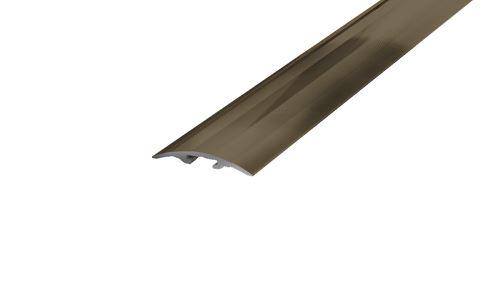 AP4/3 přechodová lišta narážecí ACARA, hliník elox stříbro, 40 mm, 2,7 m