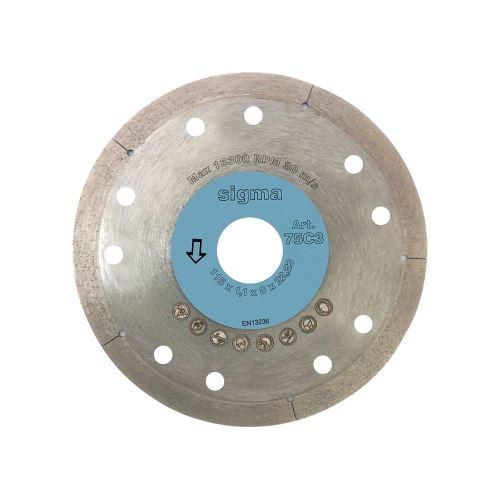 SIGMA diamantový kotouč otvor 22,2 mm, tloušťka 1, 4 mm, průměr: 115 mm, pro tl: 6-25 mm