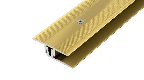 AP27/7 přechodová lišta rovná, vrtaná ACARA, hliník elox stříbro, 32 mm, 2,7 m