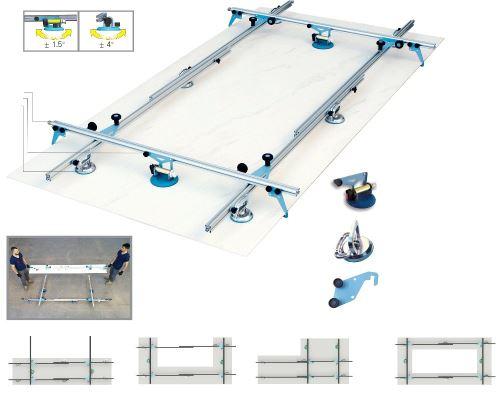 SIGMA zařízení pro manipulaci a pokládání velkých dlaždic KERA-LIFT, 160 cm, 340 cm