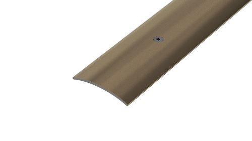 AP7 přechodová lišta vrtaná ACARA, hliník elox stříbro, 30 mm, 2,7 m