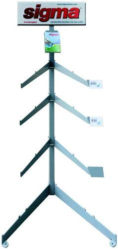 SIGMA vertikální prezenční stojan s policemi sada pro upevnění řezaček dlaždic, 2 m