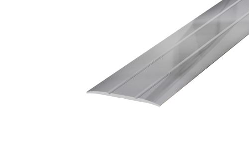 AP4/4 přechodová lišta rovná samolepící ACARA, hliník elox stříbro, 38 mm, 2,7 m