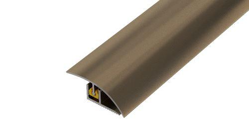 AP27/1 ukončovací lišta, vrtaná ACARA, hliník elox stříbro, 36 mm, 2,7 m