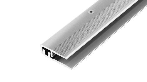 AP27/12 ukončovací lišta, vrtaná 2-dílná ACARA, hliník elox stříbro, 17 mm, 2,7 m