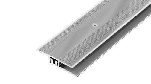 AP27/13 přechodová lišta, vrtaná 2-dílná ACARA, hliník elox stříbro, 25 mm, 2,7 m