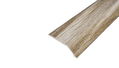 AP6 nájezdová lišta samolepící ACARA, hliník + fólie dub, 8 mm, 2,7 m