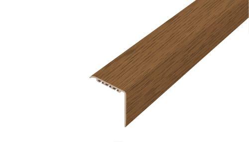 AP20 schodová lišta samolepící ACARA, PVC dub bílý, 30x30 mm, 1,8 m