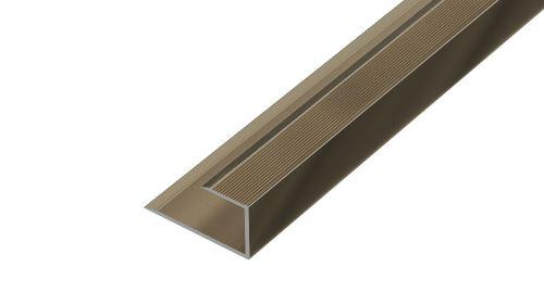 AP27/10 ukončovací lišta, pro laminát ACARA, hliník elox stříbro, 16 mm, 2,7 m