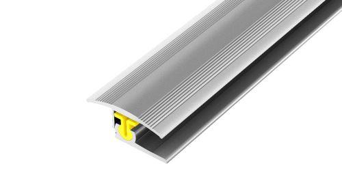 AP27/5 přechodová lišta, vrtaná ACARA, hliník elox stříbro, 38 mm, 2,7 m