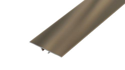 AP4/1 přechodová lišta narážecí ACARA, hliník elox stříbro, 40 mm, 2,7 m