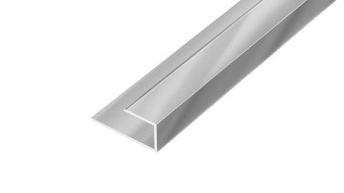 AP27/9 ukončovací lišta, pro laminát ACARA, hliník elox stříbro, 8, 8 mm, 2,7 m