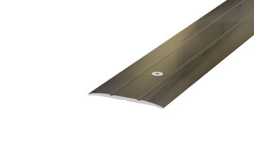 AP4/4 přechodová lišta rovná vrtaná ACARA, hliník elox stříbro, 38 mm, 2,7 m