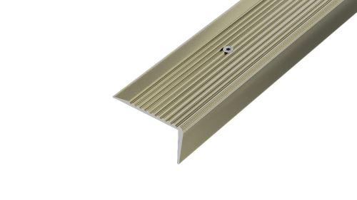 AP10 schodová lišta vrtaná ACARA, hliník elox stříbro, 20 mm, 2,7 m