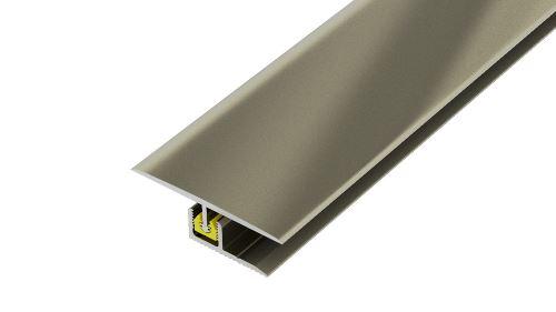 AP27/3 přechodová lišta rovná, vrtaná ACARA, hliník elox stříbro, 40 mm, 2,7 m